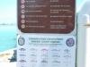 Informačná tabuľa pred Seven Miles Bridge, Keys, Florida