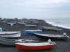 Rybárske loďky na lávovej pláži, Stromboli