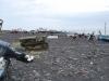 Pláž a rybárske člny v Stromboli