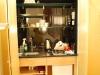 Kuchynka v našej hotelovej izbe, Kensington Gardens, Londýn
