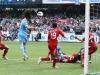 Cavani strieľa vyrovnávajúci gól