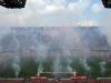 Ohňostroj pred zápasom Neapol - Siena