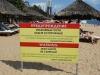 Výstraha na pláži v Nha Trang, Vietnam