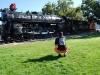 Stará lokomotíva v Kingman, Arizona