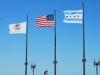 Tri vlajky, Navy Pier Park, Chicago, Illinois