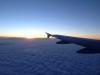Východ slnka nad fínskou krajinou