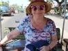 Marianka v našom luxusnom tuktuku, Siem Reap, Kambodža