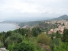 Pohľad na mesto a záliv  z Gréckeho divadla, Taormina, Sicília