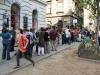 Budapešť, dlhočizný rad na zmrzlinu