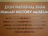 Múzeum histórie človeka, Zion National Park, Utah
